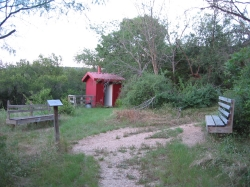 Cedar Hill primative camping area outhouse
